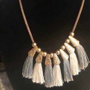 Bohemian antique  goldtone statement necklace